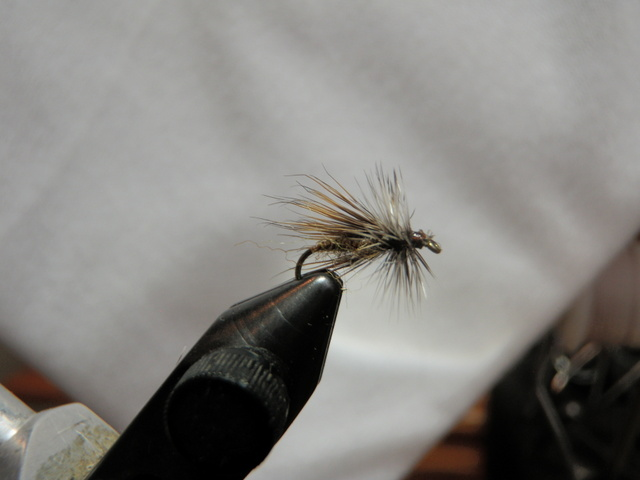 Dark Olive Deer Hair Caddis