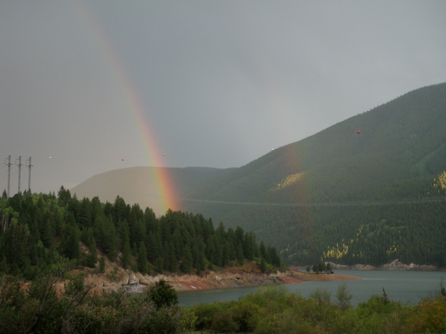 Rainbow from Campsite Thursday Evening