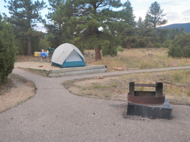 Site No. 17 at Firefighter Memorial Campground