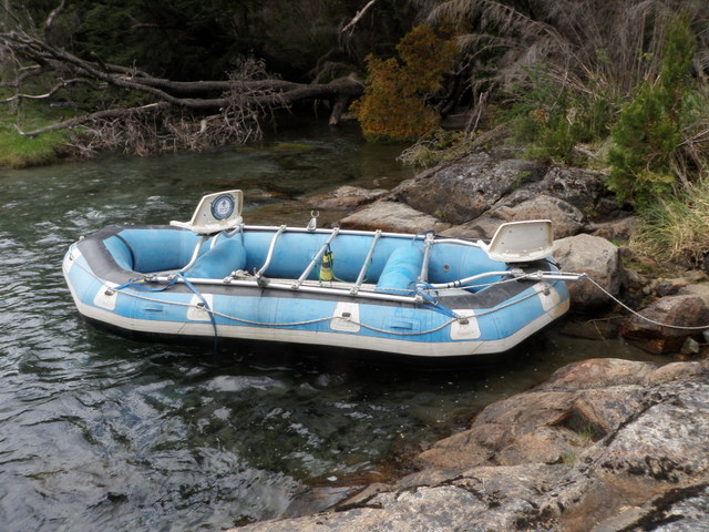 The Raft Is Empty and Ready to Be Guided Through Rapids