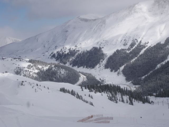 Great View of A-Basin and Loveland Pass Road