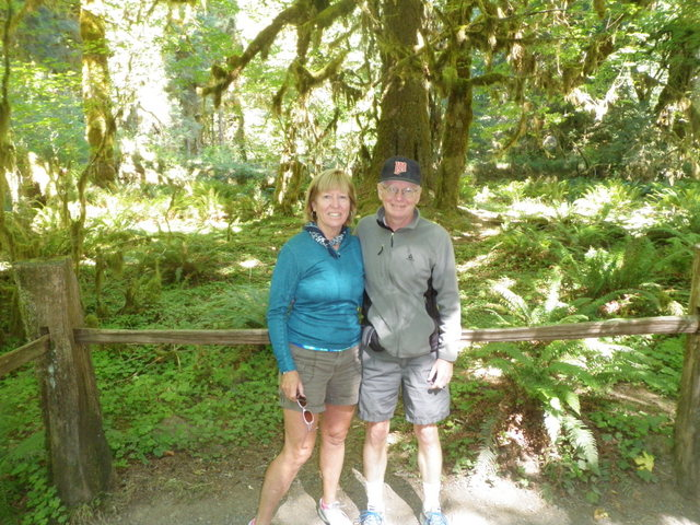 Jane and Dave in Hoh Rainforest