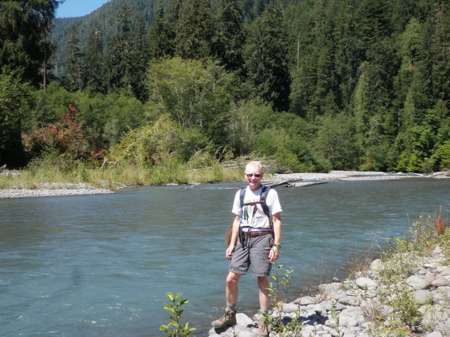 Dave Next to the Blue Hoh River