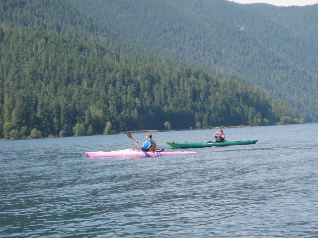 Kayaks on Lake Crescent